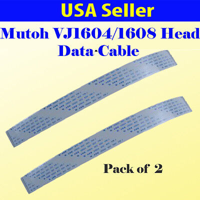 2x  Data Cable for Mutoh VJ-1604/ VJ-1618/ 1204/1304/RJ-900C 31 Pins Data Cable
