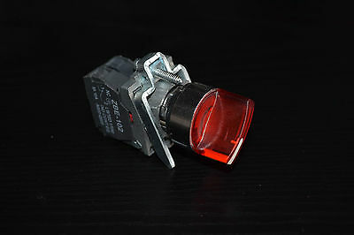1PC 22mm ILlUMINATED Selector switch 2 Position Fits RED XB4BK124G5 110/120VLED