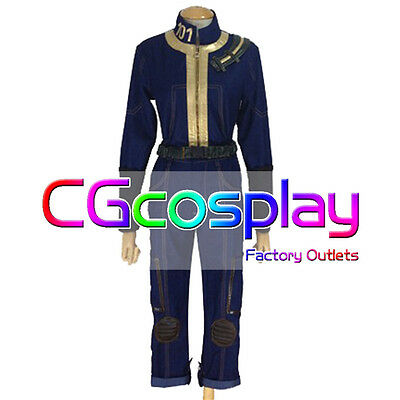 Free Shipping Cosplay Costume Fallout 3 Anime Uniform Any Size