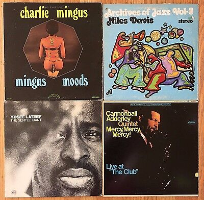 4 LP Jazz Vinyl Record Lot #184 Miles Davis Mingus Lateef Cannonball Adderley