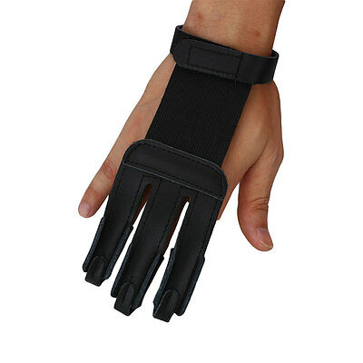 Archery Target Guard Bow Cow Leather Hand Protector 3 Fingers Glove Shooting