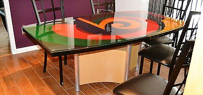 AXI STUDIOS custom contemporary dining table CELLO from 2002 excellent colorful