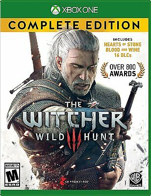 NEW Witcher 3: Wild Hunt -- Complete Edition (Microsoft Xbox One, 2016)