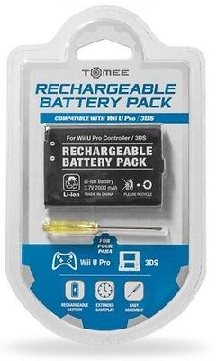 3DS Console & Wiiu Pro Controller Tomee Rechargeable Battery Pack