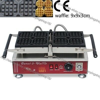 Commercial Nonstick Electric 4pcs Belgian Liege Waffle Iron Maker Baker Machine