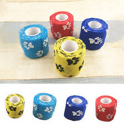 Lovely Flexible Pet Puppy Dog Cat Vet Wound Cohesive Bandage Wrap Tape