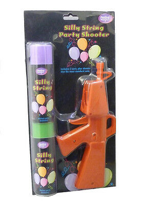 Silly string gun with 2 cans of silly string