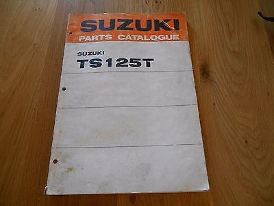 Suzuki , TS125 T , Parts book list catalogue diagrams, 99000 91640
