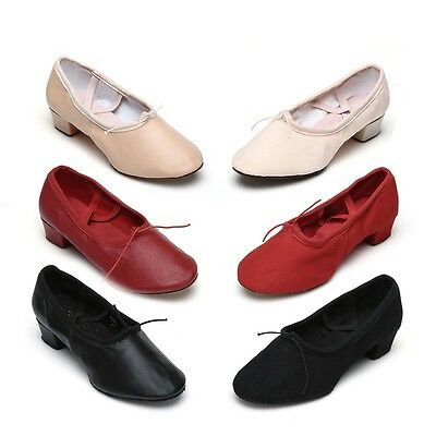 Free Shipping  BellatCanvas and leather Dance Shoes Teacher Dance Shoes 6 Colors