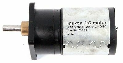 Maxon 2140.934-22.112-050 40Mm 12V Dc Motor With Ironless Rotor + Gearbox 1C