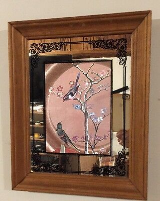 Vintage Foil Art With Mirror Canada 1950s-70s