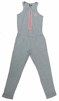 Converse Girls Grey Sleeve-Less Jumpsuit All Star Chuck Taylor 10-12Y / 12-13Y