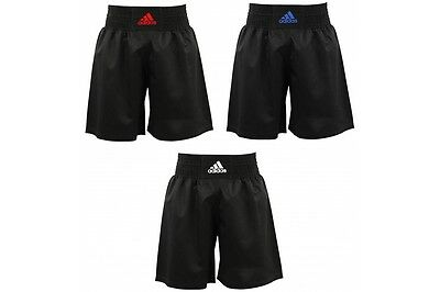 Adidas Adults Mens Ultralight Black Boxing Training Shorts Blue, Red, White