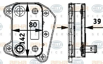 Hella 8Mo 376 726-321 Oil Cooler Engine Mb C-Cl. (W203) Genuine Wholesale Price