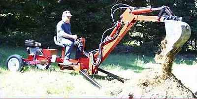 Towable backhoe plans