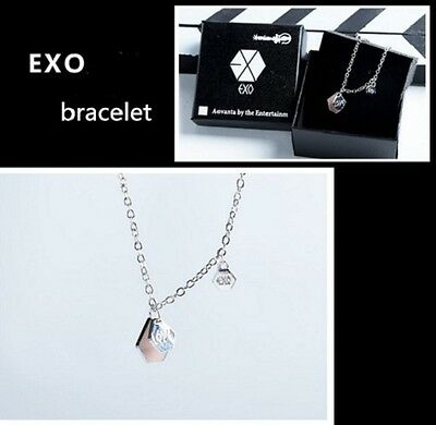 Kpop EXO EX'ACT Necklace Bracelet LAY Baekhyun Chanyeol Pendant Wristband