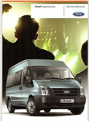 Ford People Movers 2010-11 UK Market Brochure Tourneo Connect Transit Minibus