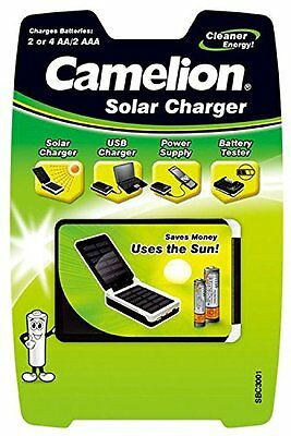 Camelion 20003001 Solar Charger (Suitable for 2-4x AA) NiMH Batteries AA 2x AAA