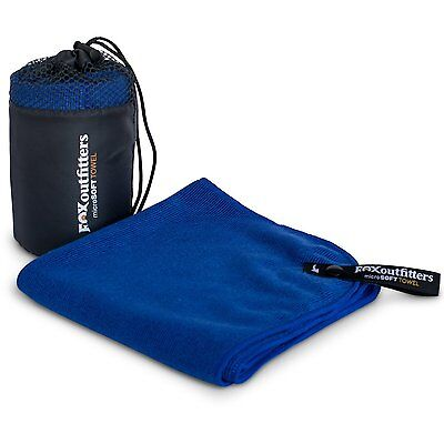 Fox Outfitters MicroSoft Towel - Compact Soft Microfiber Towel with Hang Loop