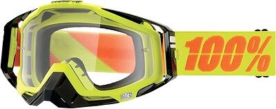 100% Racecraft Goggles Yellow Neon Yellow/Clear Lens 50100-004-02