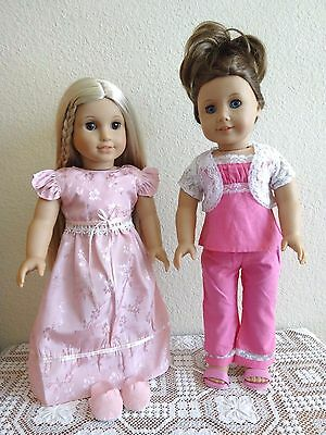 """NEW-DOLL CLOTHES:PJs & Nightgown w/Slippers fit 18""""Doll such as AG Doll_Lot #263"""