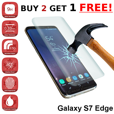 *CURVED* Samsung Galaxy S7 EDGE High Quality Tempered Glass Screen Protector
