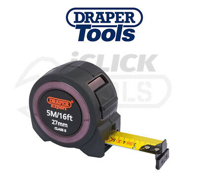 Draper Expert 5M / 16Ft x 27mm Builders Tape Measure Measurer - 59777