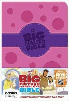 The Big Picture Interactive Bible for Kids, Purple/Pink Polka Dot LeatherTouch