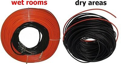 Floor Heating Cable 500 W - 2400 W  for dry areas and  wet or damp areas