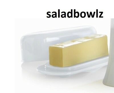 TUPPERWARE New BUTTER DISH with COVER Impressions SNOW WHITE BPA Free! fREEsHIP!