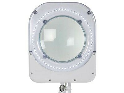 64 LED Lamp with Magnifying Glass-5 Diopter- 6W White, VTLLAMP1WU,Made in USA