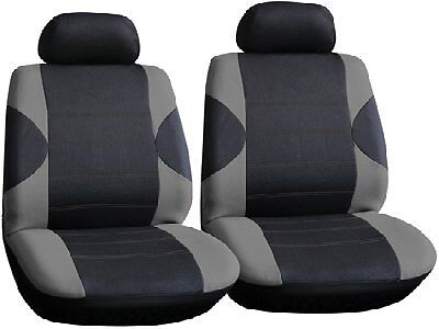 Black Grey Front Car Seat Covers pair for RENAULT CLIO DYNAMIQUE 01-08 C57