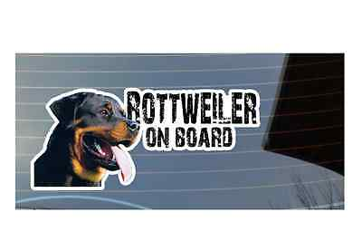 Rottweiler On Board, Car window, bumper, panel sticker,Great Gift For Dog Lover