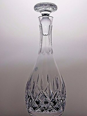 """Galway Crystal """"longford"""" Pattern Decanter- Signed"""