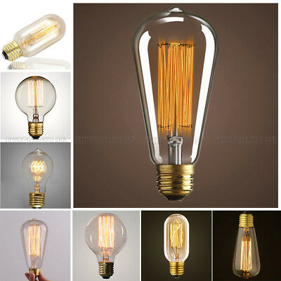 E26 40/60W Vintage Retro Filament Edison Tungsten Light Bulb Lamp Incandescent