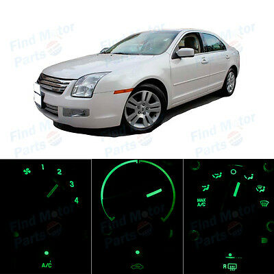 Green AC Climate Control Heater Temperature Bulbs LED Lights for Fusion 06-09