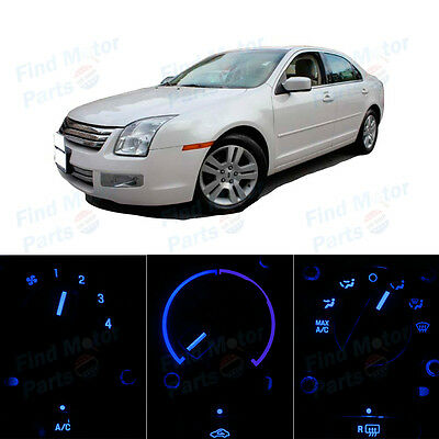 Blue AC Climate Control Heater Temperature Bulbs LED Lights for Fusion 06-09
