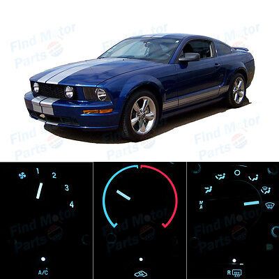 LED Package AC Climate Heating Control Ice Blue Bulb for 2005-2006 Ford Mustang