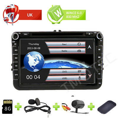 8'' Car DVD Player Radio Stereo GPS SAT NAV For VW Passat B6 B7 Golf Tiguan Leon
