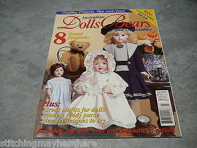 Australian Dolls, Bears and Collectables Vol. 11 No. 3 how to make a purse