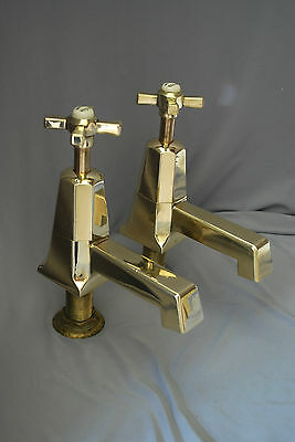 Bath Taps Art Deco Antique Brass Stunning Taps Reclaimed & Fully Refurbished