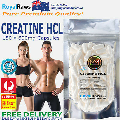 Creatine HCL 150 x 600mg capsules│Strength Power Fat Muscle Recovery Loss Unisex
