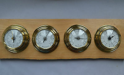 Marine Style Solid Brass Case Clock/weather Instrument Range - Prokraft Pkr Mar
