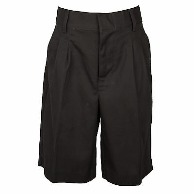 Universal Boys Brown Pleated Shorts School Uniform  Sizes 4 -20
