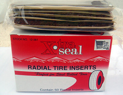 "Xtra Seal Radial Inserts 4"" Fat Brown Repairs x 50/pkg Type Tire Plugs."