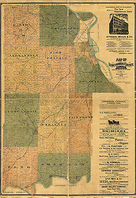 1894 Map of Leavenworth County Kansas
