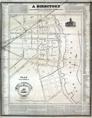 1829 Map of the city of New Brunswick New Jersey