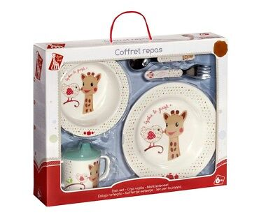 Sophie la girafe® Dish & utencil set - For toddler and children. Baby GIft box
