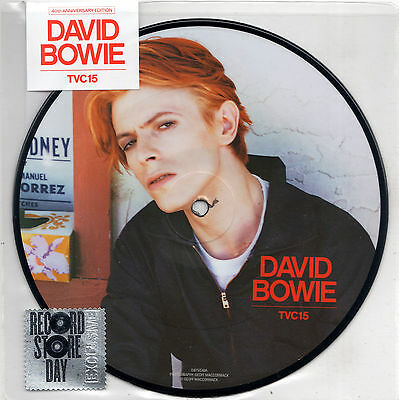 """DAVID BOWIE tvc15 / wild is the wind 7"""" PICTURE DISC RSD RECORD STORE DAY 2016"""