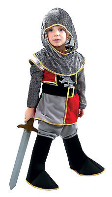 Boys Toddler Knight Costume Soldier King Medieval Fancy Dress Outfit New Age 3-4